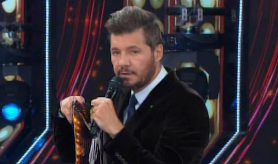 Marcelo Tinelli despidió cariñosamente a Peter Alfonso.